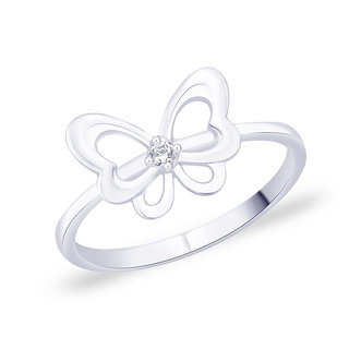 Peora Silver Butterfly Ring Pr5082