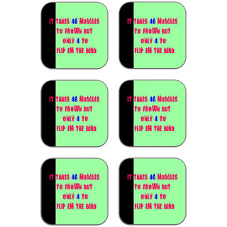 meSleep Quotes Wooden Coaster-Set of 6