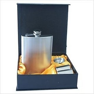 Hip Flask Set Alcohol Container with Two Short Glasses and a Funnel