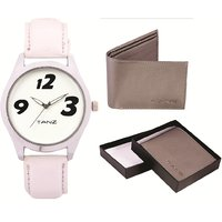Tanz Combo of  watch TW014  Wallet Grey