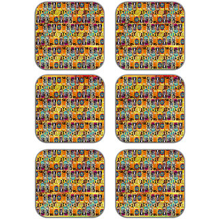 meSleep african Art Wooden Coaster-Set of 6