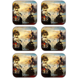 meSleep Nature Wooden Coaster-Set of 6