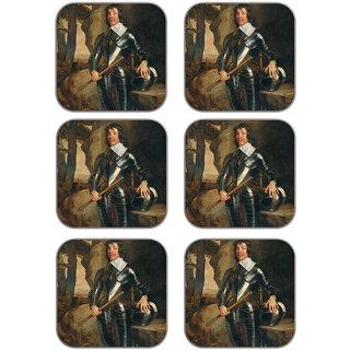 meSleep Man Wooden Coaster-Set of 6