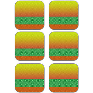 meSleep Abstract Wooden Coaster-Set of 6
