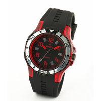 Av73blkrd-Sor Black/Black Analog Watch