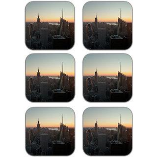 meSleep City Wooden Coaster-Set of 6