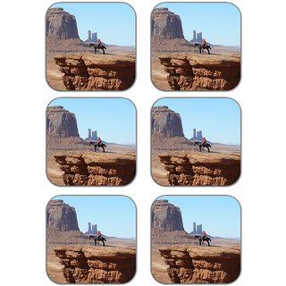 meSleep Man On Horse Wooden Coaster-Set of 6