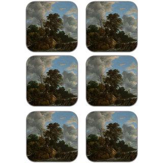 meSleep Landscape Wooden Coaster-Set of 6