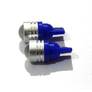 2 X Projector Lens LED T10 BLUE Car & Bike Parking / Rear Number Plate Light