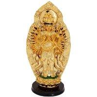 Odishabazaar Goddess Tara Golden Showpiece 9x17x9 Cm