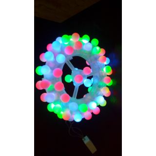 78 LED Light Bulbs Decorative Lamp Wheel Multi color