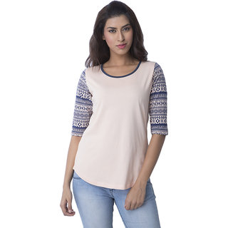 Cult Fiction Printed Womens Round Neck T-Shirt
