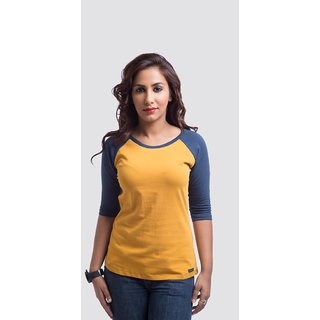 Cult Fiction Solid Womens Round Neck T-Shirt