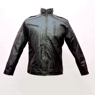 12d24e260c76 44%off Stylish Slim Fit Biker Pu Leather Motorcycle High Quality Jacket Men
