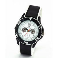 Av72blkwht-Sor Black/White Analog Watch