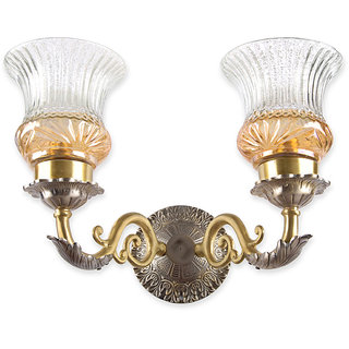 Fos Lighting Dual Finish Luster Double Brass Wall Light