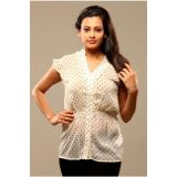 Swank Womens Tops Ivoryvory With Black Dotted Design Sk 1129