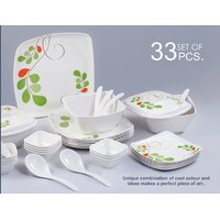 33 pcs Melamine Dinner set- Square Shape