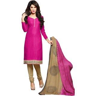 Parisha Khaki Polycotton Printed Salwar Suit Dress Material