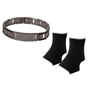 Silver Bracelet For men Combo Ankle Support JSMFHWB0436