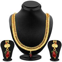 Sukkhi Lavish Gold Plated Temple Jewellery Necklace Set