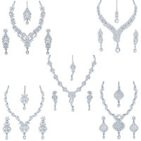 Sukkhi Silver Plated Silver Set Of 5 Pieces Necklace For Women