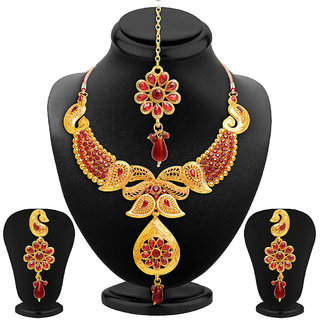 Sukkhi Fabulous Gold Plated AD Necklace Set