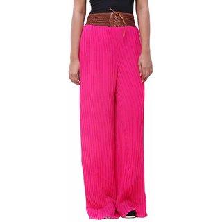 Fashion Arcade  Pink Georgette Palazzo