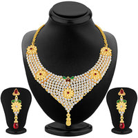 Sukkhi Royal Gold Plated AD Necklace Set