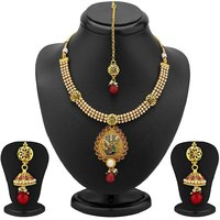 Sukkhi Luxurious Gold Plated Peacock Antique Necklace Set