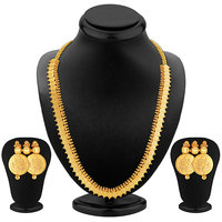 Sukkhi Luxurious Gold Plated Temple Jewellery Necklace Set