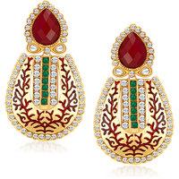 Sukkhi Appealing Gold Plated Australian Diamond Earrings