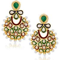 Sukkhi Astonish Gold Plated Australian Diamond Earrings