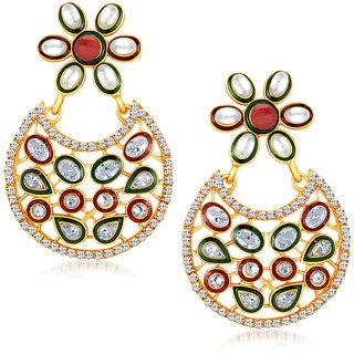 Sukkhi Amazing Gold Plated Australian Diamond Earrings