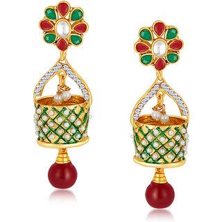 Sukkhi Astonishing Gold Plated Australian Diamond Earrings