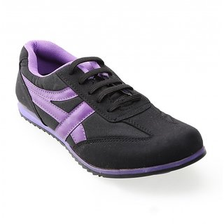 Advice Women BlkPur Canvas Shoes BG-531 ]