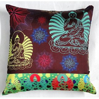 valtellina India Budha Art 3D Cushion Covers (DGC_18X18_003)