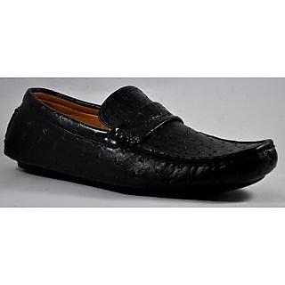HARRY HILL Croc Driver Men's Black Shoes