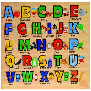 Toyzstation Alphabet Tray With Picture(Multicolor)