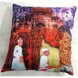 valtellina India A Fakir Life 3D Cushion Covers (DGC_18X18_006)