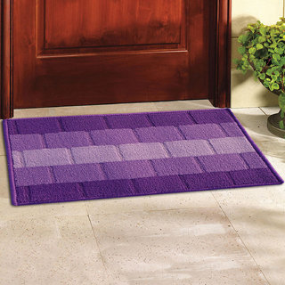 Status Purple Polypropylene Door Mat (15X22 Inch)