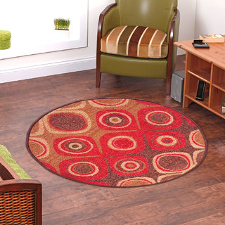Status RedBrown Nylon Rugs  30X30 Inch available at ShopClues for Rs.899