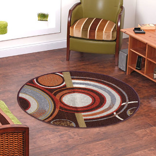 Status BrownWhite Nylon Rugs  30X30 Inch available at ShopClues for Rs.219