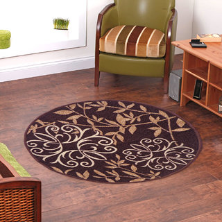 Status BrownWhite Nylon Rugs  30X30 Inch available at ShopClues for Rs.209