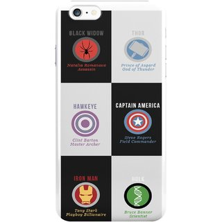 The Fappy Store The Avengers Plastic Back Cover For Iphone 6 Plus
