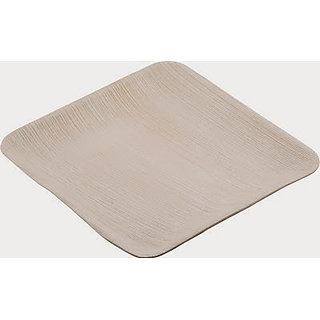 leaftrend Eco friendly Disposable Palm leaf Square Flat Plate 6x6-25Pcs