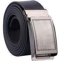Fashno Adjustable  Black Leather Belt