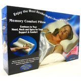 Memory Foam Pillow Comfort Cloud Soft Foam Pillow Relief Neck Pain