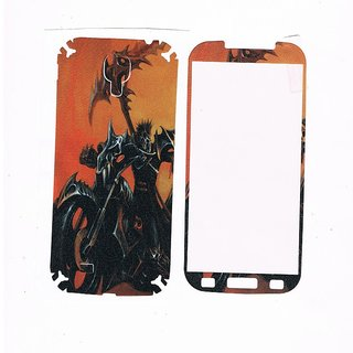 SAMSUNG S4 GHOST RIDER PRINT SCREEN GUARD FRONT AND BACK