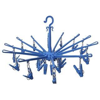 24 Clips Multipurpose Compact Cloth Hanger / dryer - k